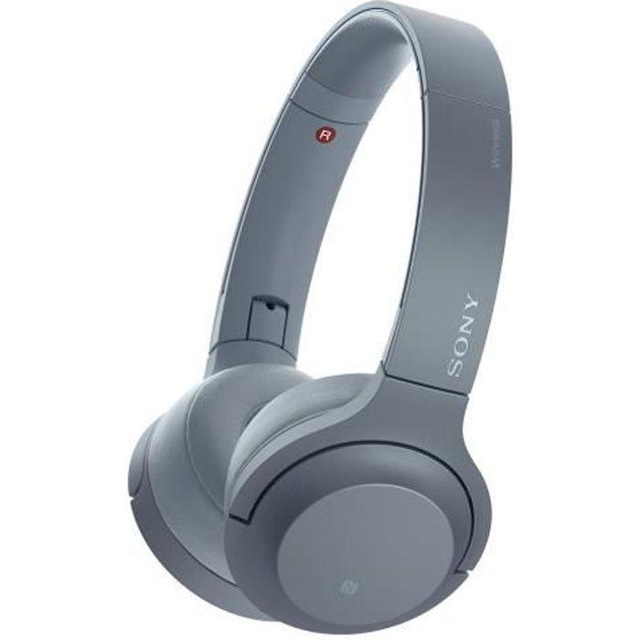 Sony h.ear on 2 Mini Wireless WH-H800 Casque pleine taille sans fil Bluetooth NFC* bleu nuit