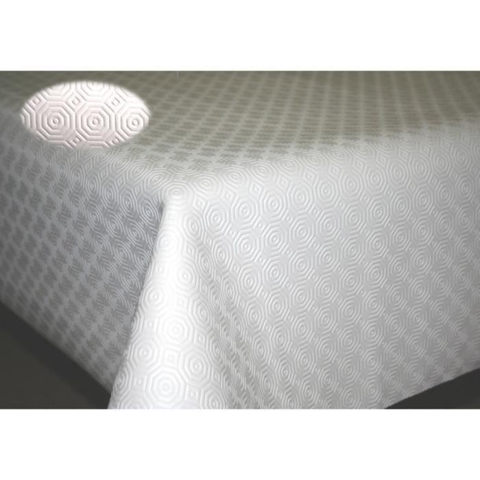 Sous nappe TEKNIGOMME uni blanc - Largeur 110 cm Ovale 110 x 200 cm - roulé sur tube en carton (sans plis)