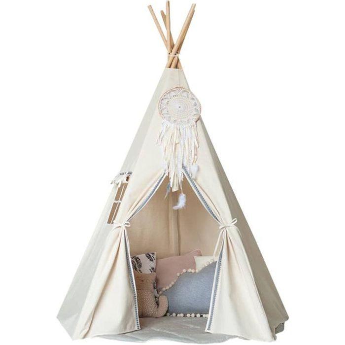 Tente de Jeu Tipi Enfant Activité En bois Pin Coton (Pas inclure autres choses)