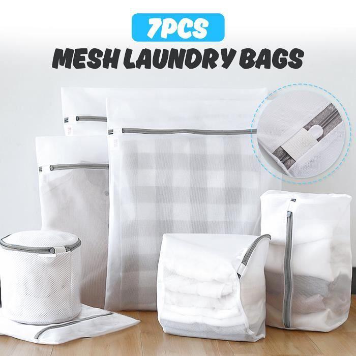 TEMPSA 7Pcs Filet à Linge de Lavage Double Couche Sacs à Linge Avec Fermeture Eclair Pour Protéger Vos Vêtements Pour machine à Lave
