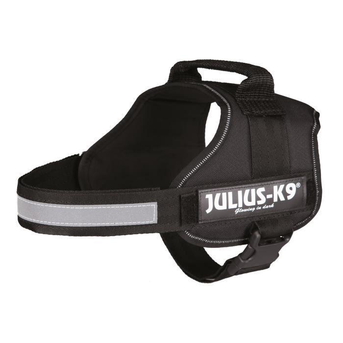 Harnais Power Julius-K9 - 0 - M-L : 58-76 cm-40 mm - Noir - Pour chien
