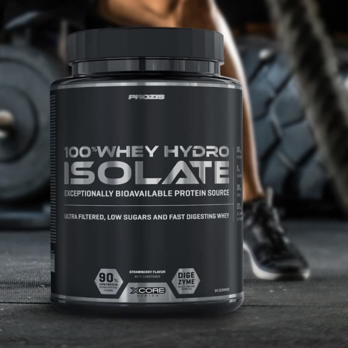 XCORE - 100% Whey Hydro Isolate SS 2000 g - Fraise - Protéine musculation