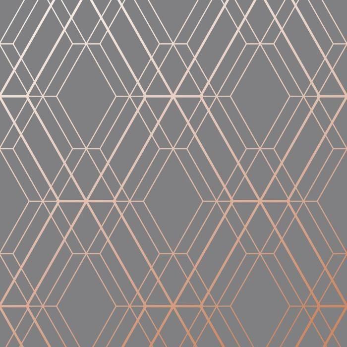 Paladium Papier Peint Géométrique Noir//Doré Holden 90114 Neuf