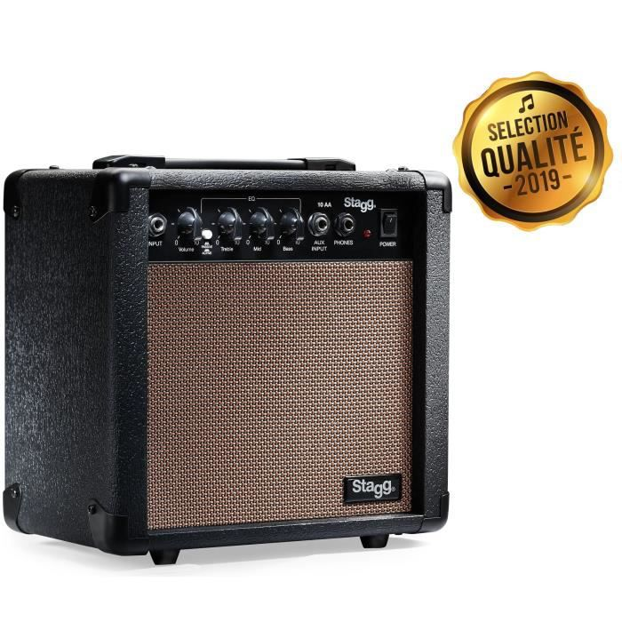 AMPLIFICATEUR STAGG Amplis Guitare 10 AA EU Acoustique (10 Watts