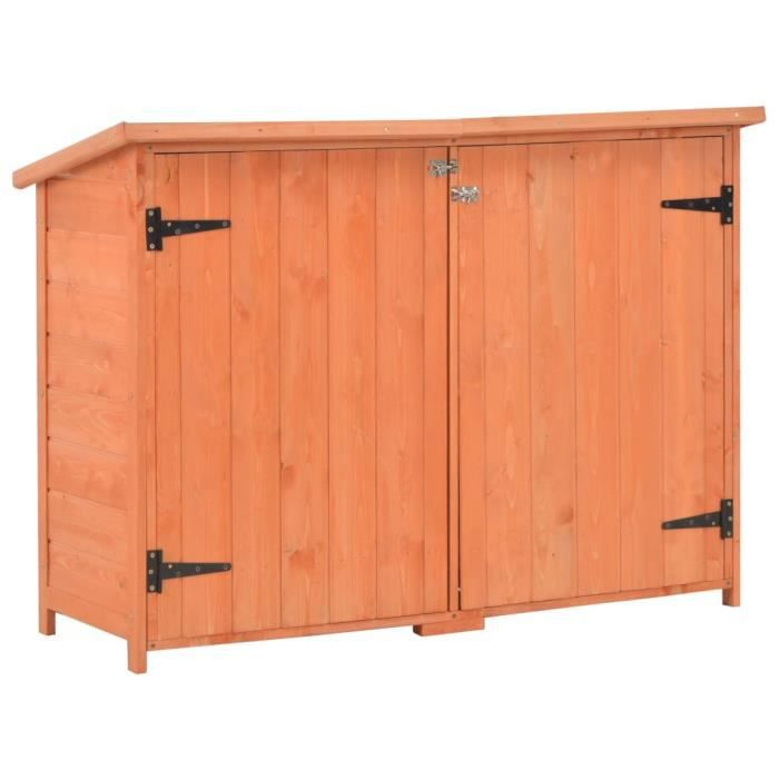 ABRI JARDIN - CHALET Abri de stockage de jardin 120x50x91 cm Bois