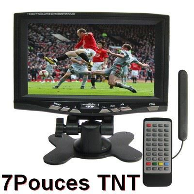 tv portable tnt lcd 7 pouces avec support usb t l viseur lcd prix pas cher cdiscount. Black Bedroom Furniture Sets. Home Design Ideas