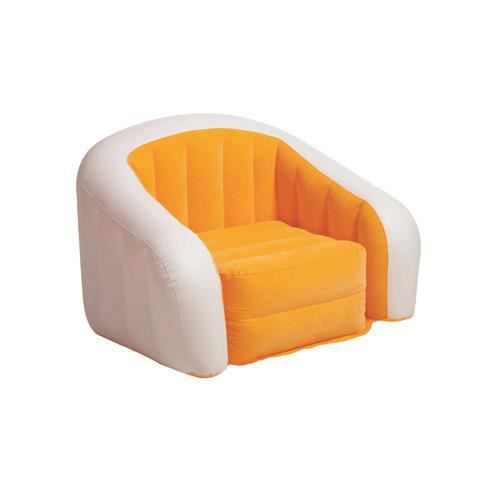 fauteuil gonflable floqu club fun 1 place orange fiche technique fauteuil gonflable pour. Black Bedroom Furniture Sets. Home Design Ideas
