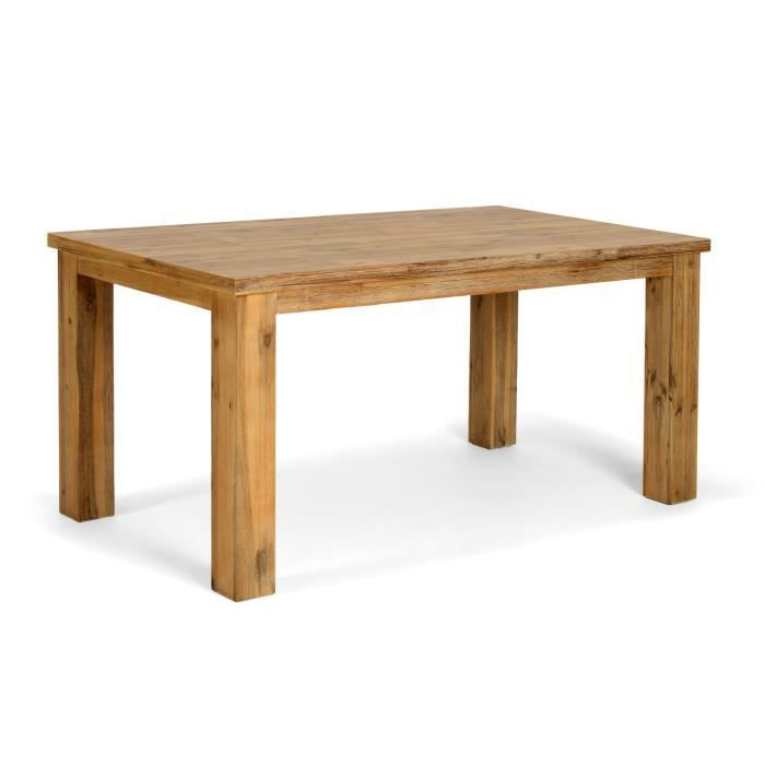 Table oregon 160x90 avec rallonge en acacia nat achat for Table 160 avec rallonge