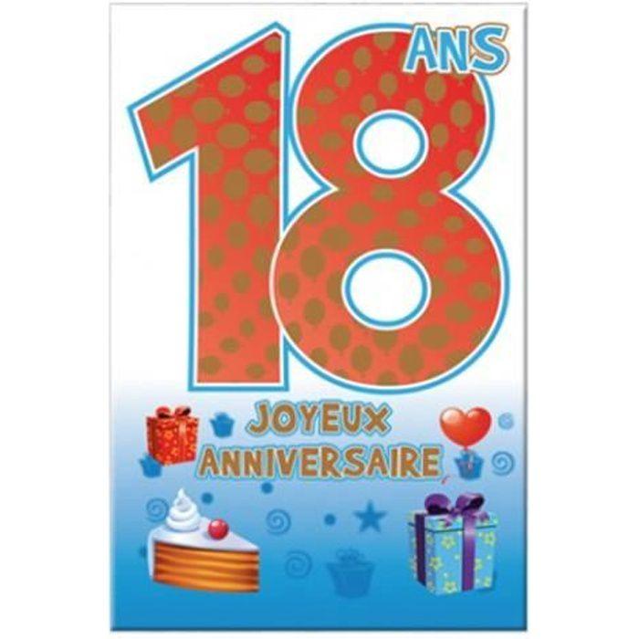 Carte Anniversaire 18 Ans Achat Vente Carte Correspondance Carte Anniversaire 18 Ans Au Meilleur Prix 3660273023099 Cdiscount