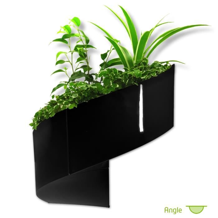 modul 39 green pot pour plantes mural design int rieur ext rieur 2 modules noir achat. Black Bedroom Furniture Sets. Home Design Ideas