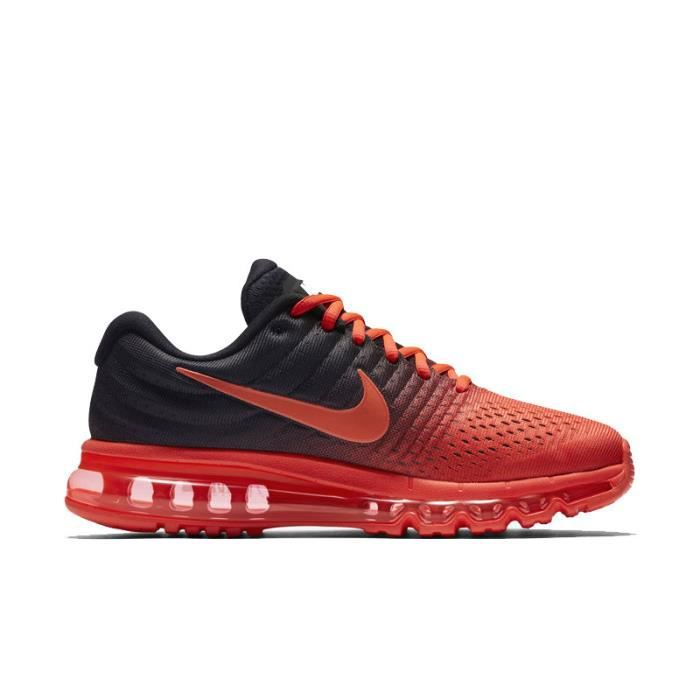 NIKE Airmax 2017 Homme Basket Running Chaussures Rouge et