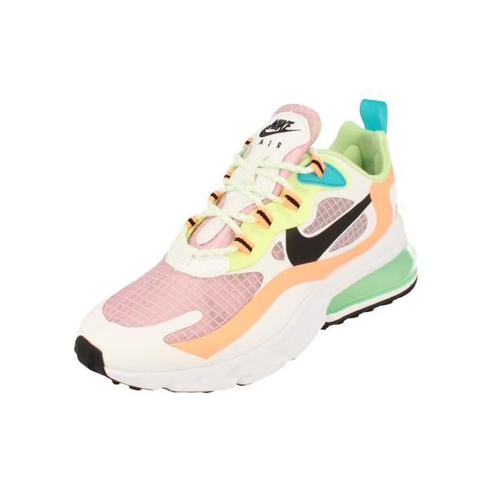 Nike Femme Air Max 270 React Se Running Trainers Cj0620 Sneakers ...