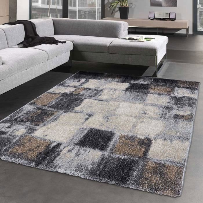 tapis salon decoratif elegant 04 gris 120x170 par With tapis décoratif salon