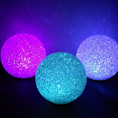 lot de 3 boules lumineuse led effet cristal achat vente lot de 3 boules lumineuse. Black Bedroom Furniture Sets. Home Design Ideas