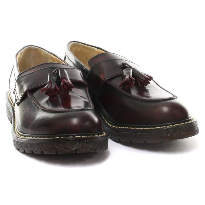 Grinders Cuthbert Homme Loafer Bordeaux