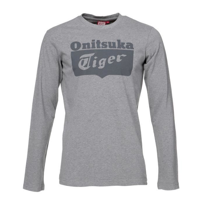 ASICS Tee shirt manches longues Onitsuka Tiger Homme - Gris
