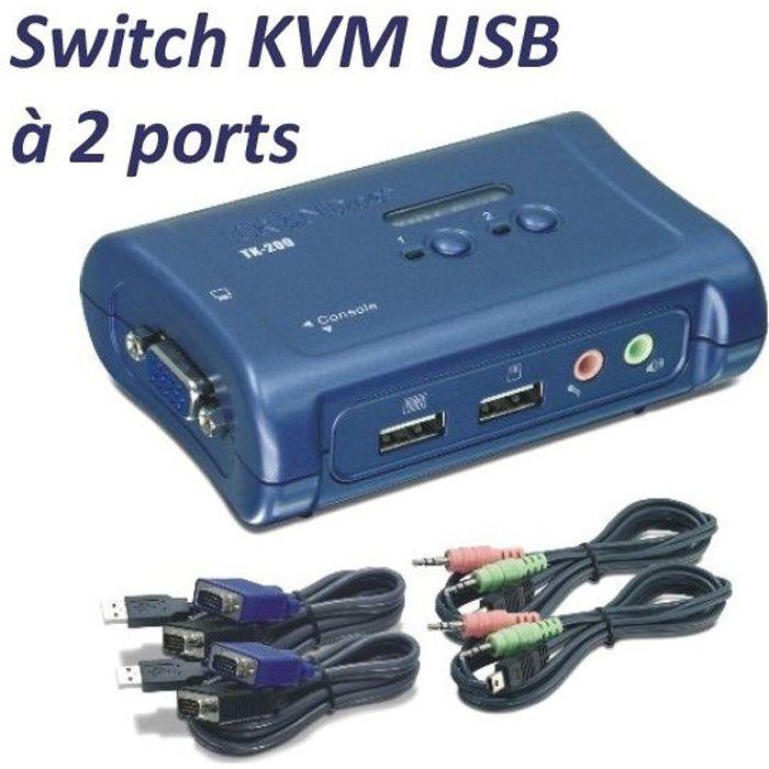 Trendnet switch KVM 2 ports VGA/USB TK209K