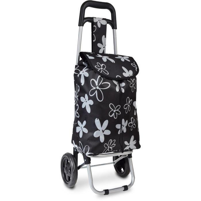 KINSTON Chariot de Course Flower Power Noir