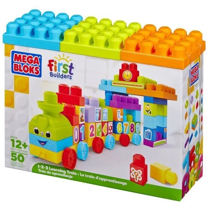 Mega bloks first builders le train 123 achat vente for Builders first