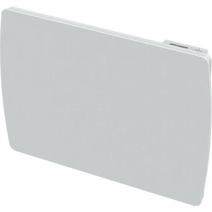 CARRERA Radiateur électrique à inertie céramique Jarpa - Programmation LCD - 1000 W - Façade en verre blanc