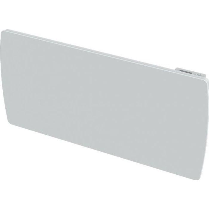 CARRERA Radiateur électrique à inertie céramique Jarpa - Programmation LCD - 2000 W - Façade en verre blanc