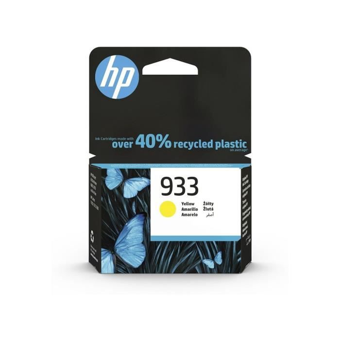 HP 933 Cartouche d'encre Jaune Authentique (CN060AE) pour imprimantes HP OfficeJet 7100