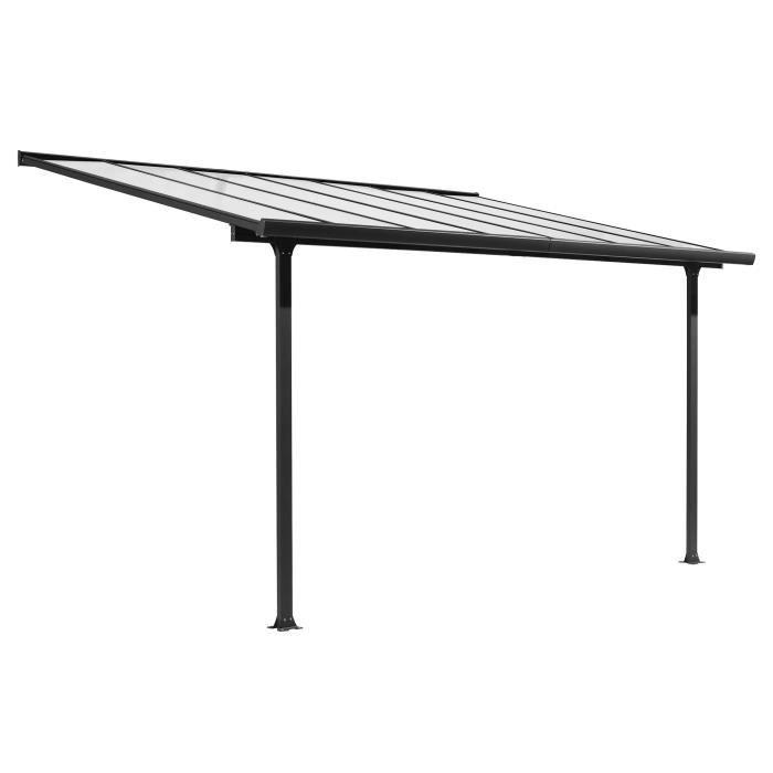 Toit-terrasse aluminium 9,21 m² - 300 x 307 cm - Gris anthracite