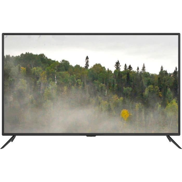 CONTINENTAL EDISON TV 4K Ultra HD - 55- (138cm) - 3 X HDMI - 2 X USB - Classe énergétique A +