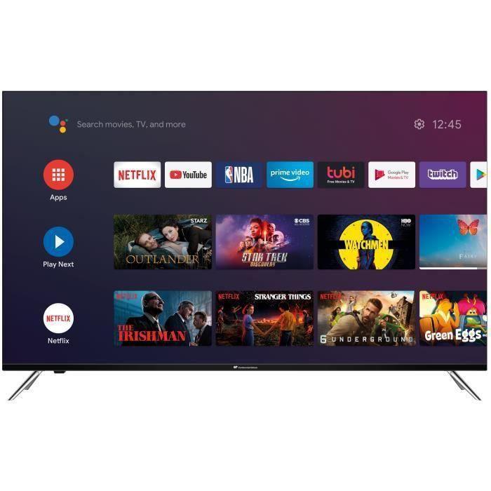CONTINENTAL EDISON Android TV QLED - 146 cm (58-) - 4K UHD Borderless