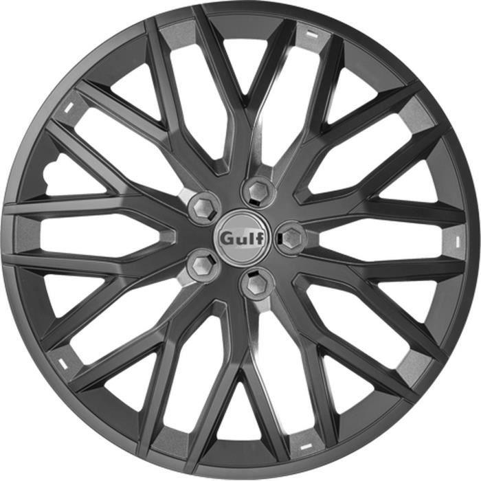 GULF GT40 4 Enjoliveurs 14 Pouces Facing Noir et Intérieur Gris