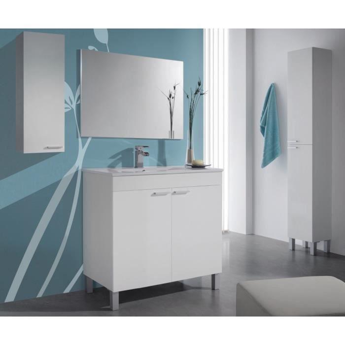 KONCEPT Ensemble meuble salle de bain 80cm - Blanc