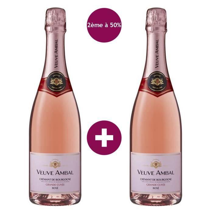 2ème à -50% - Veuve Ambal Grande Cuvée - Crémant de Bourgogne Rosé