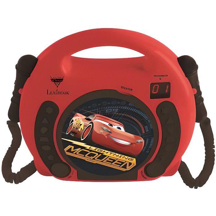 CARS Lecteur CD karaoké enfant avec 2 microphones LEXIBOOK