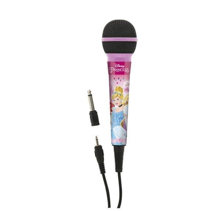 DISNEY PRINCESSES Microphone enfant LEXIBOOK - câble 2,5m avec connecteur de 3,5mm et adaptateur 6,3mm