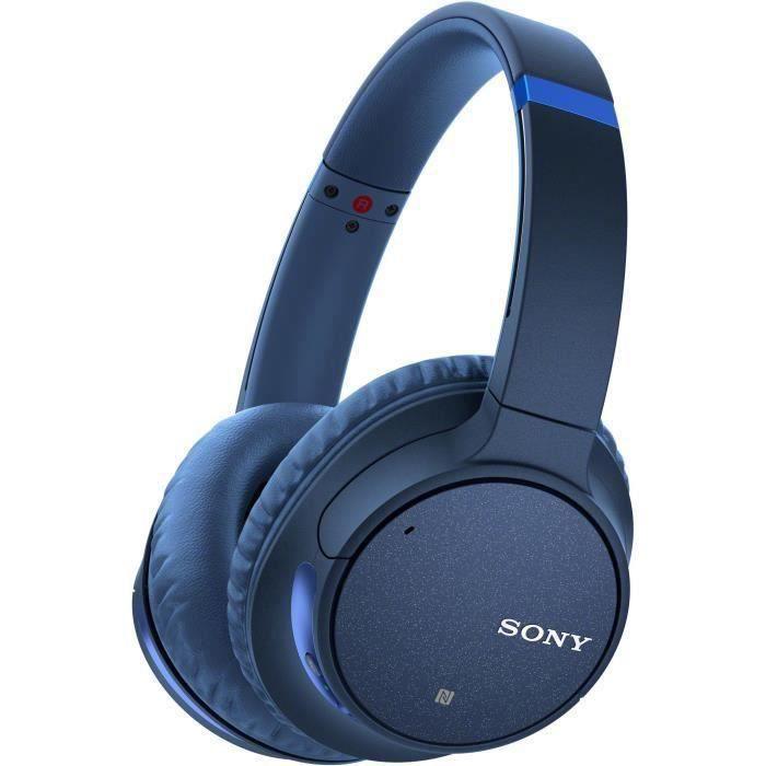 SONY WHCH700NL Casque Audio Bluetooth réduction de bruit - Autonomie 35h - Possibilité d'écoute filaire - Bleu