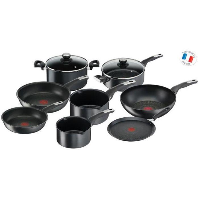 TEFAL YY4390FA Batterie de cuisine 10 pcs UNLIMITED - Antiadhésive - Tous feux dont induction - Résiste aux rayures - Thermo-Signal