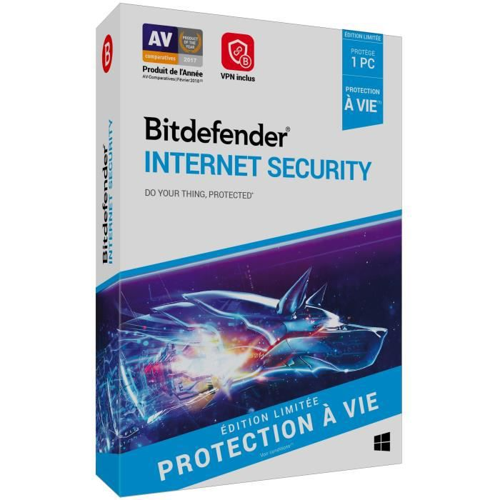Bitdefender Internet Security à vie 1 Pc