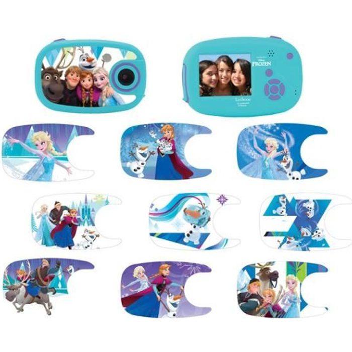 LA REINE DES NEIGES Appareil photo numérique enfant 5 MP écran 5 cm LEXIBOOK - personnalisable avec 10 stickers