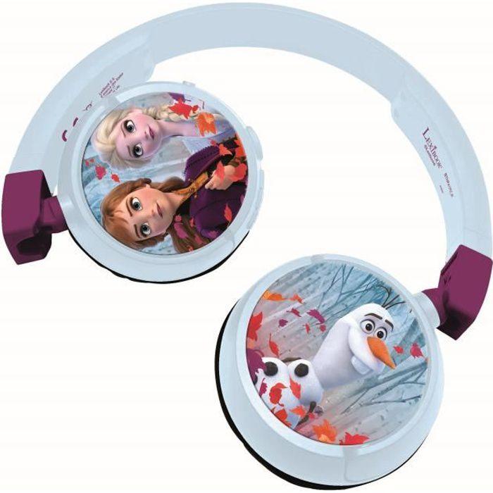 LA REINE DES NEIGES 2 Casque 2-en-1 Bluetooth® et filaire confortable et pliable pour enfants avec limitation de son - LEXIBOOK