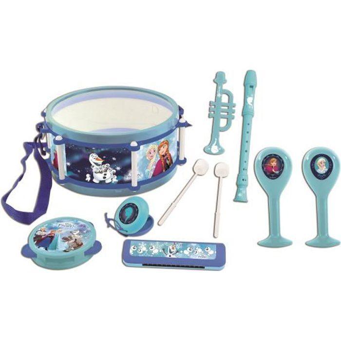 LA REINE DES NEIGES Set musical de 7 instruments de musique enfant