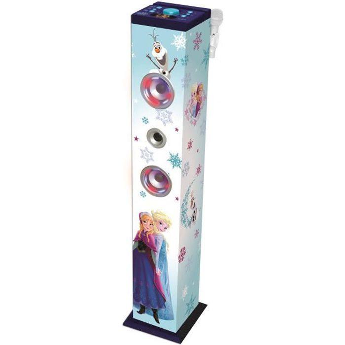 LA REINE DES NEIGES Tour de son karaoké enfant Bluetooth® 1 mètre avec micro LEXIBOOK