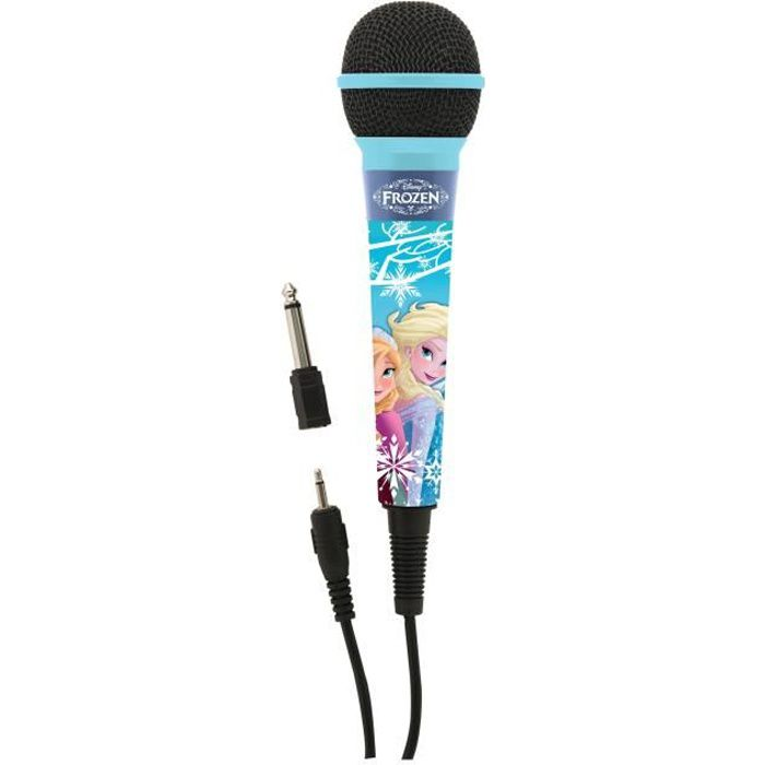 LA REINE DES NEIGES Microphone enfant LEXIBOOK - câble 2,5m avec connecteur de 3,5mm et adaptateur 6,3mm