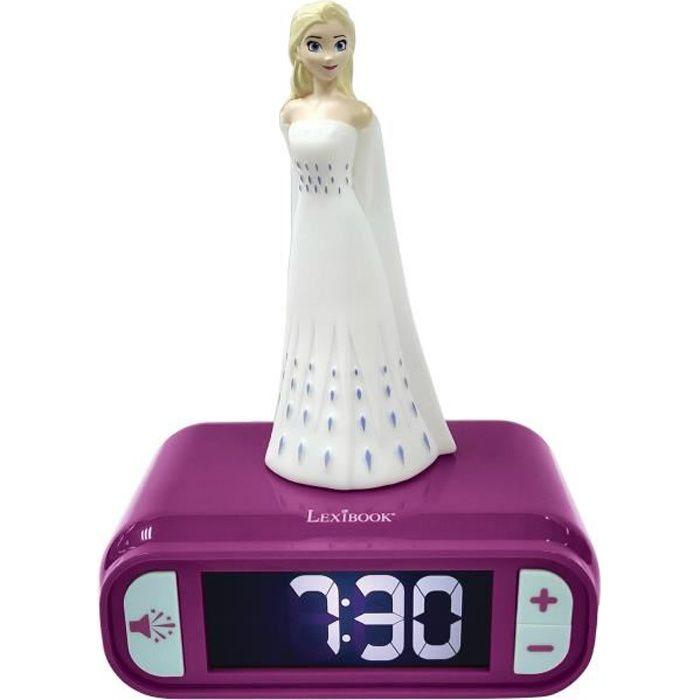 LA REINE DES NEIGES 2 Réveil veilleuse Elsa chambre enfant LEXIBOOK - Sons et lumières