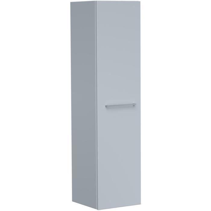 GLOSSY Colonne de salle de bain L 30cm - Gris clair laqué brillant