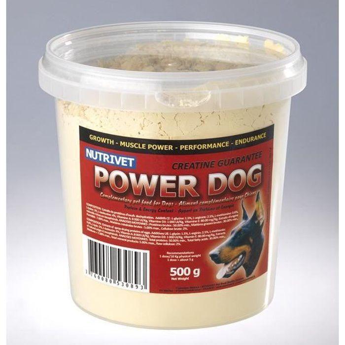 POWER DOG Complément alimentaire pour chiens sportifs 500 gr