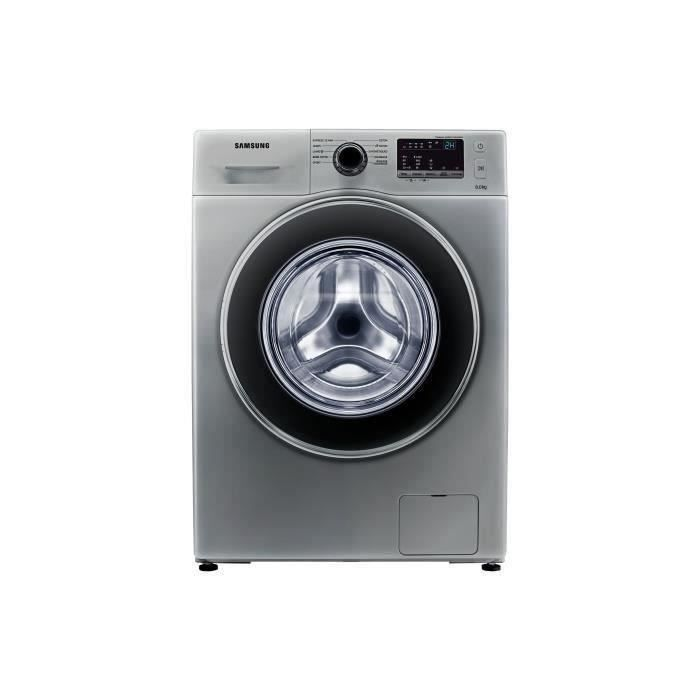 Frontal 8kg - 1200 tours / min - A+++ - Display digital LED bleues - Tambour Crystal care gloss noir - Coloris SilverLAVE-LINGE