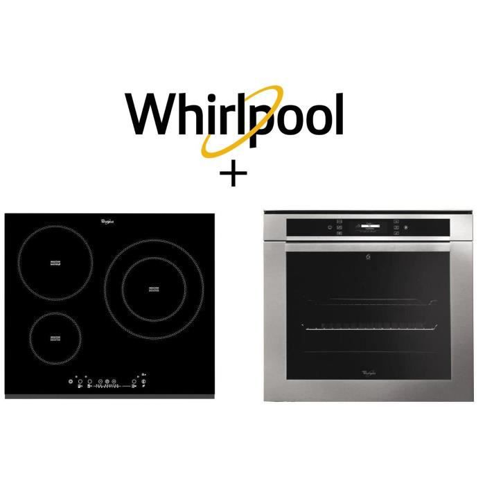 PACK cuisson WHIRLPOOL AKZM670IX - Four électrique ancastrable-73 L-Pyrolyse + CM860BF-Table de cuisson induction-3zones-7000W