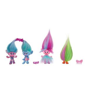 TROLLS Figurines 12,5 Cm Pack De 4