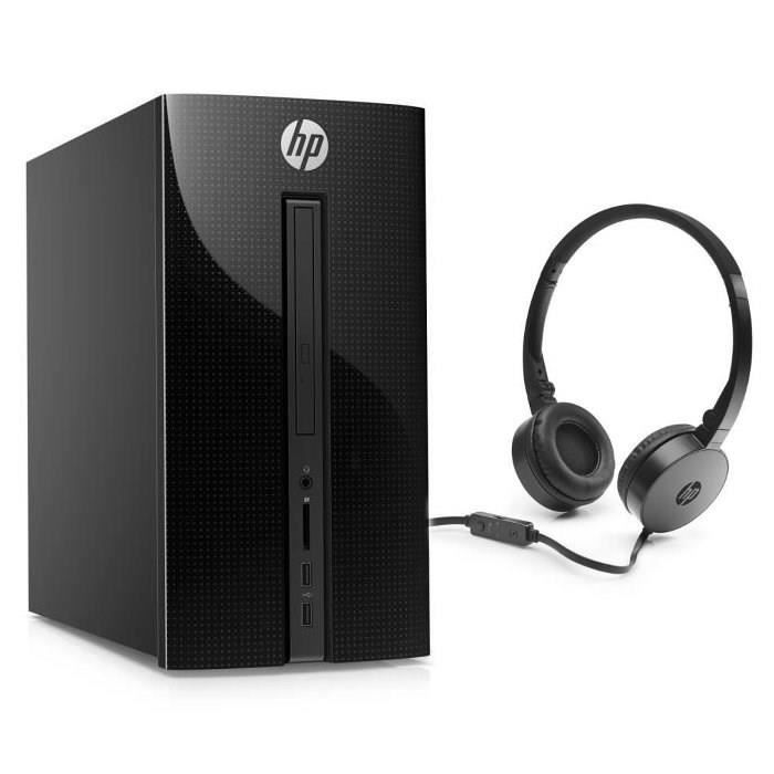 HP PC BUREAU Pavilion - 570p000nf - 4 Go de RAM - Windows 10- Intel Pentium - Intel HD - Disque dur 1 To+16 Go Optane + casque