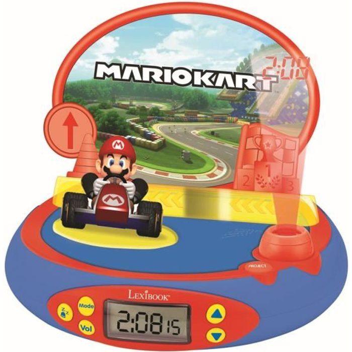 MARIO KART Réveil Projecteur avec Sons du jeu vidéo Nintendo